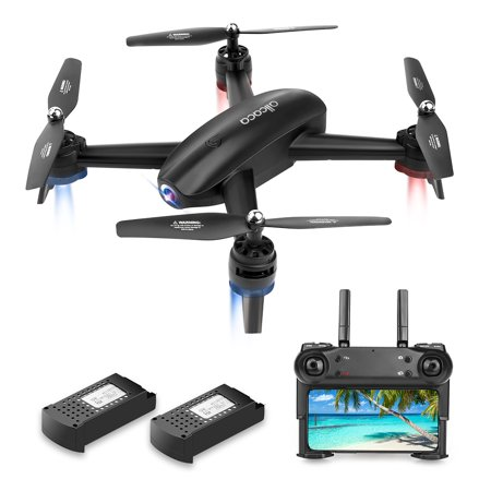 ALLCACA RC Drone 6-axis Gyro Quadcopter Optical Flow Positioning Drone with Double 720P HD Cameras, Altitude Hold, Headless Mode and 360° Flip,