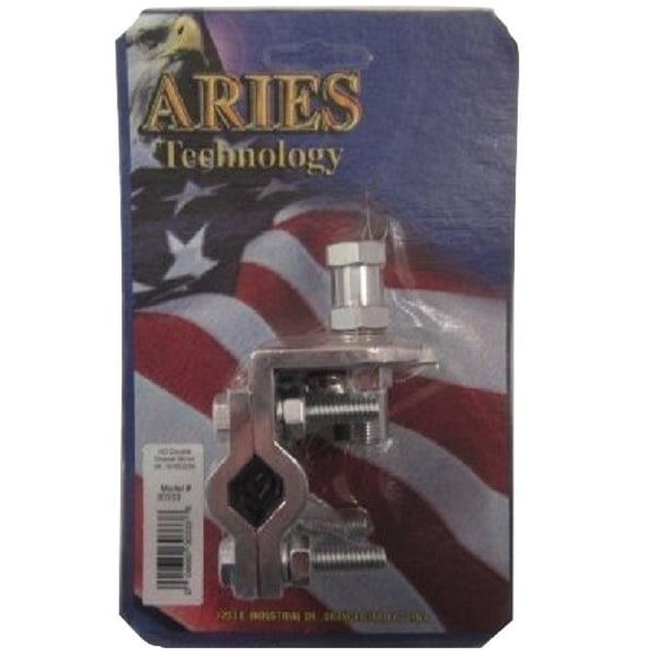 Aries 30333 HEAVY DUTY CB RADIO DOUBLE GROOVE MIRROR MOUNT W / HEAVY DUTY