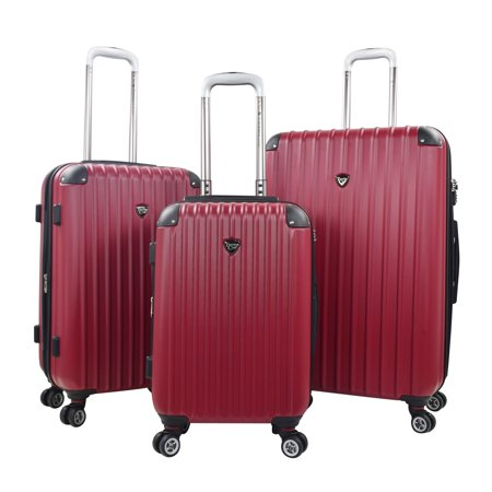 Chicago 2.0 3 pc. Expandable ABS 8-Wheel Spinner Rolling Upright Set - Red