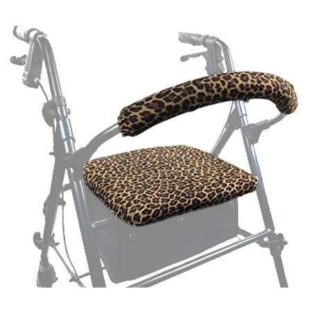 Gel Rollator Handle Covers - Crutcheze US Made Rollator Walker Seat and Backrest Covers Designer Fashion Accessories (Leopard)