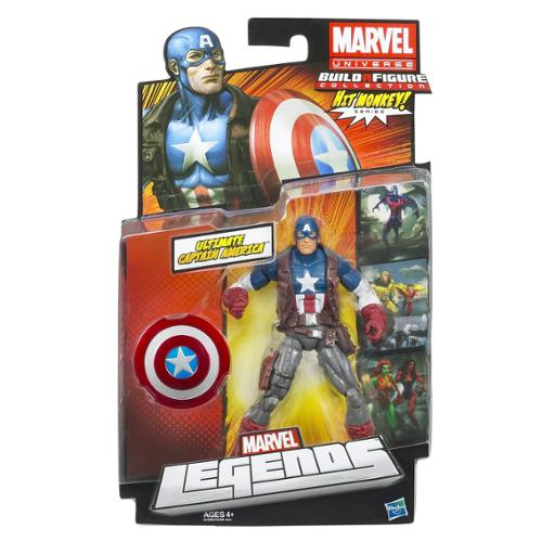 Marvel Universe Build a Figure Collection Hit Monkey Series Ultimate Captain America Figure
