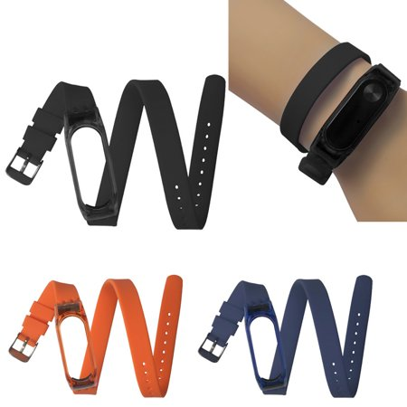 Hight Quality Fashion 43cm Silicon Soft Sport Strap Replacement Wristband For Xiaomi Mi Band 2