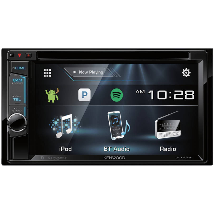 """Kenwood Ddx374bt 6.2"""" Double-DIN In-Dash DVD Receiver with Bluetooth and Siriusxm Ready"""