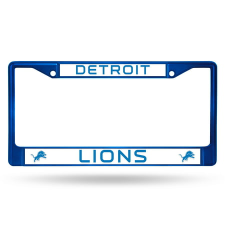 Rico Industries NFL Color License Plate Frame, Detroit Lions Nittany Lions License Plate Frame