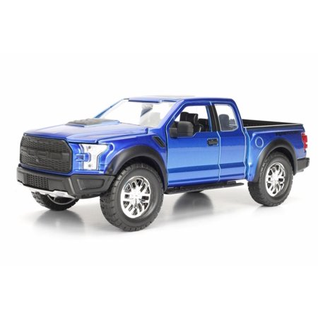 2017 Ford F-150 Raptor Pickup, Blue - Jada 98583 - 1/24 scale Diecast Model Toy Car -  ModelToyCars