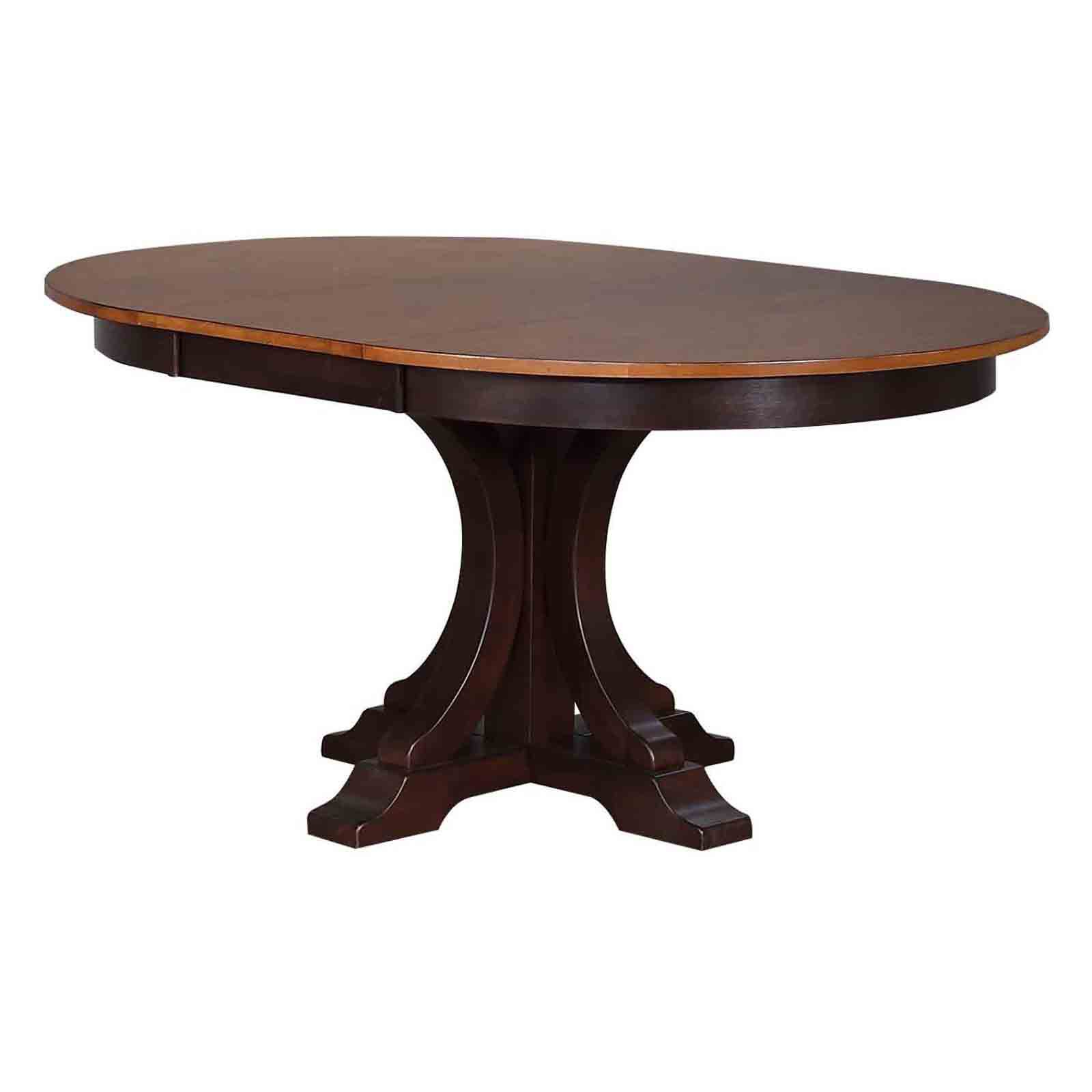 Iconic Furniture Deco 45 In. Round Dining Table With Extension Leaf