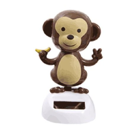Solar Powered Dancing Monkey - Head and Arms Sway in Sunlight - Halloween Solar Dancing Toys