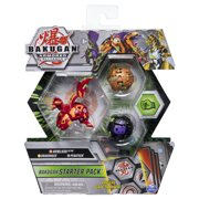 Bakugan Starter Pack 3-Pack, Howlkor Ultra, Armored Alliance Collectible Action Figures