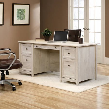 Sauder Edge Water Executive Desk Chalked Chestnut