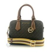 Michael Kors Hayes Leather Small Duffle Zip Satchel Handbag