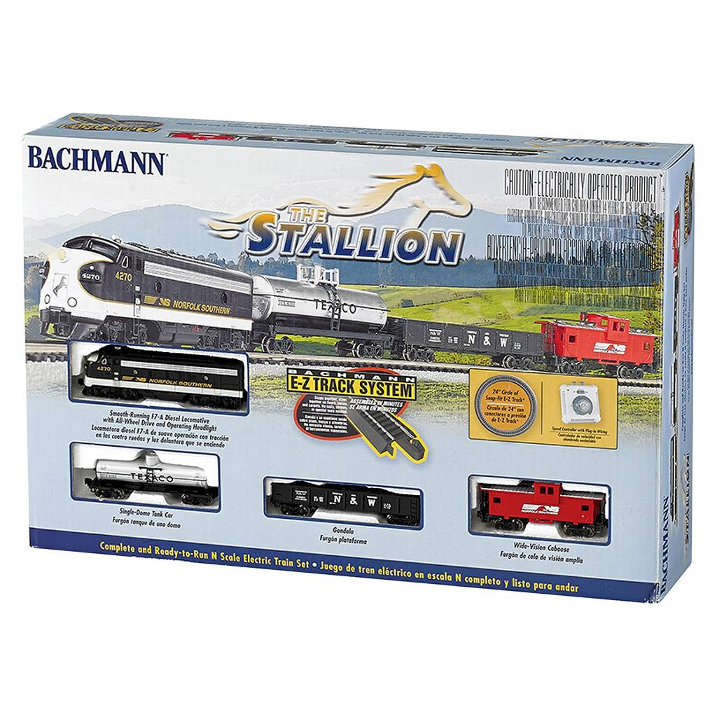 Bachmann Trains Stallion N Scale Ready-to-Run Electric Train Set by Bachmann Trains
