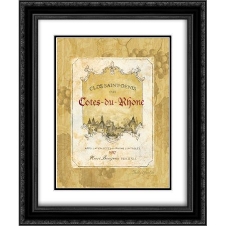 (Cotes du Rhone 2x Matted 20x24 Black Ornate Framed Art Print by Gladding, Pamela)