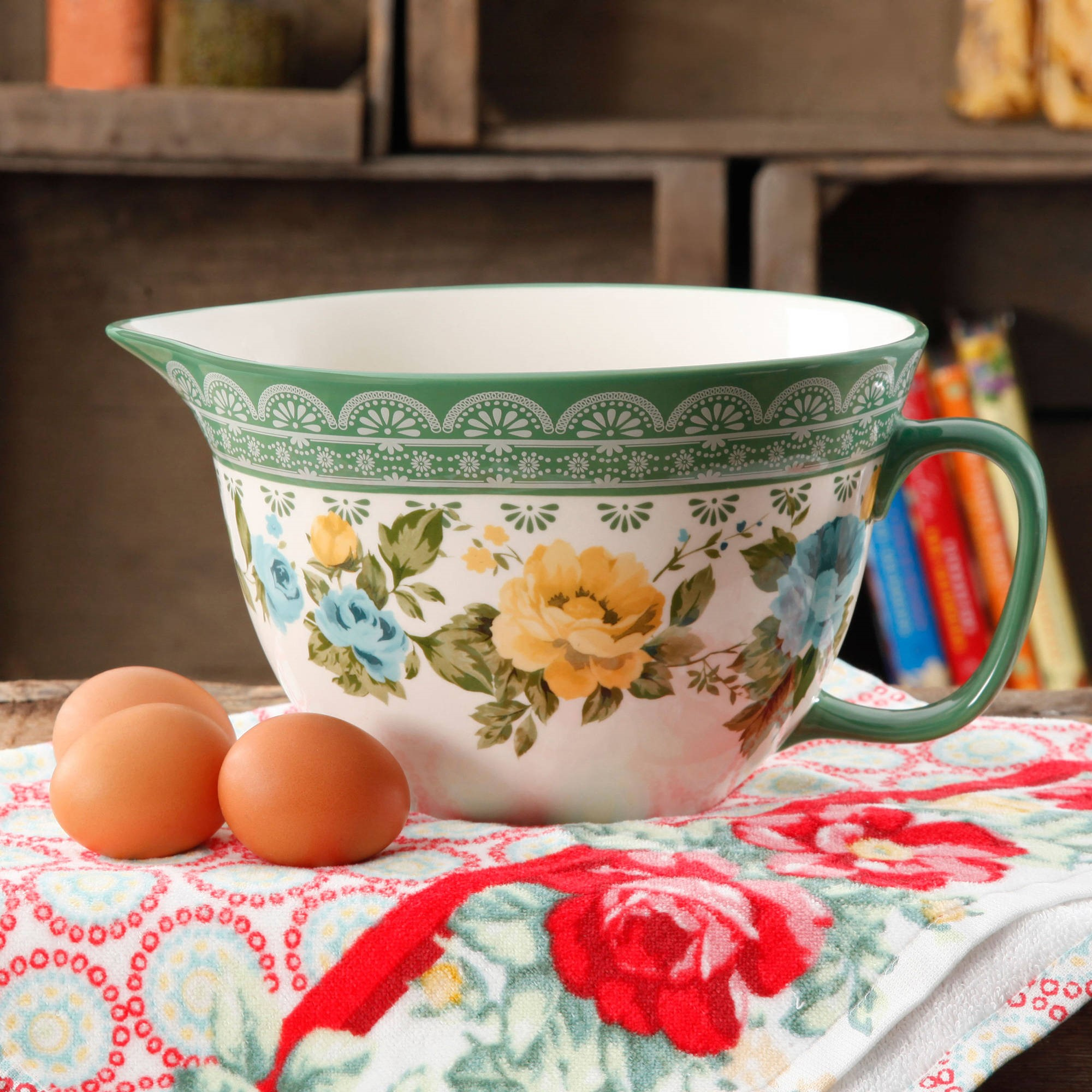 The Pioneer Woman Rose Shadow 2.83-Quart Batter Bowl