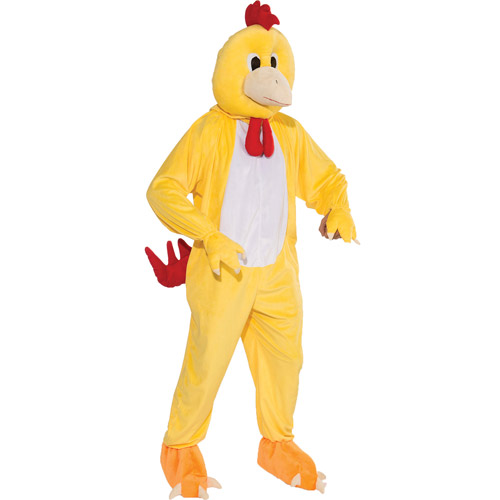 Chicken Mascot Adult Halloween Costume - One Size