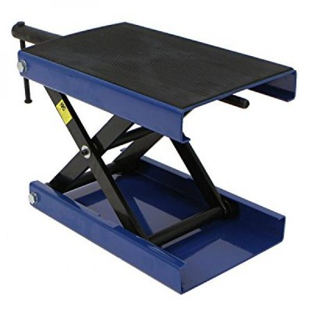 Wide Deck Motorcycle Center Scissor Jack Lift, Bike Repair Stand (Portable Scissor Lift)