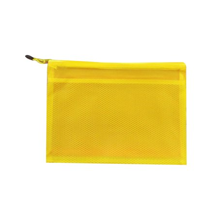 A4/A5/A6/B5 Transparent Double Grids Zipper PVC Document Bag Office Stationery Supplies - image 1 of 3