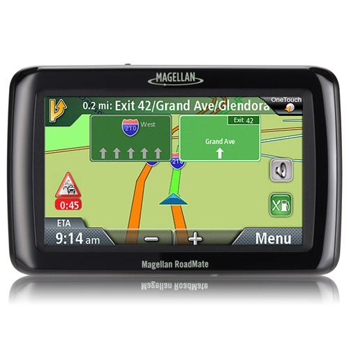"Magellan RoadMate 2136T-LM Automobile Portable GPS Navigator -  - 4.3"" - Touchscreen - Speaker - Turn-by-turn Navigation, Lane Assist, Speed Assist, Voice Prompt, Text-to-Speech - USB - 2 Hour"