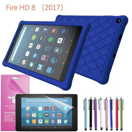 timeless design 90222 57019 EpicGadget Case for Amazon Fire HD 8 2018/2017 Silicone (8th/7th  Generation) (2018/2017 Released) Slim Anti-Slip Soft Rubber Silicone Gel  Case Cover ...