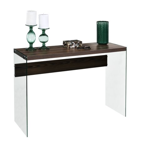 OneSpace Escher Skye Floating Console Sofa Table, Walnut