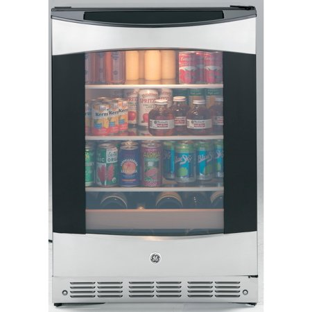 Ge Compact - GE Profile PCR06BATSS - Drinks chiller - freestanding - width: 23.7 in - depth: 25 in - height: 34.1 in - 5.5 cu. ft - stainless steel/black