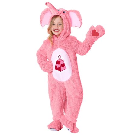 Care Bears & Cousins Toddler Lotsa Heart Elephant Costume - Toddler Care Bear Costume