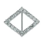 Expo Int'l Diamond Single Row Rhinestone - Rhinestone Buckle Center