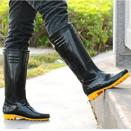 Mens' Basic Rain Boots Black