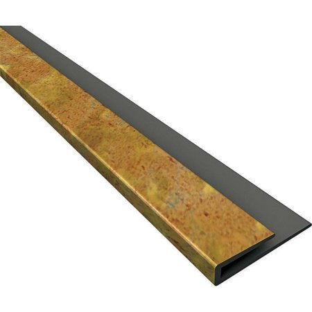 Image of Fasade 92319 Edge J-Trim, 18 in L 0.6 in T, Thermoplastic