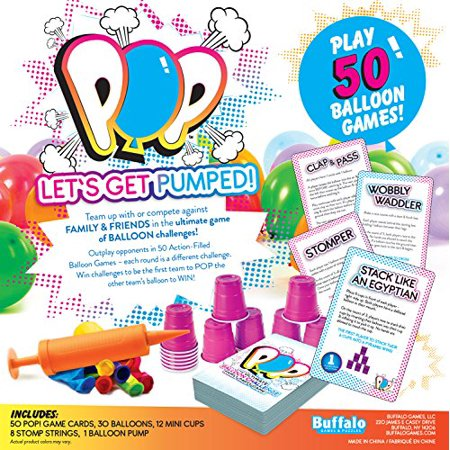 Buffalo Games Pop-The Ultimate Balloon Challenge Family Game, - Buffalo Games Times Square