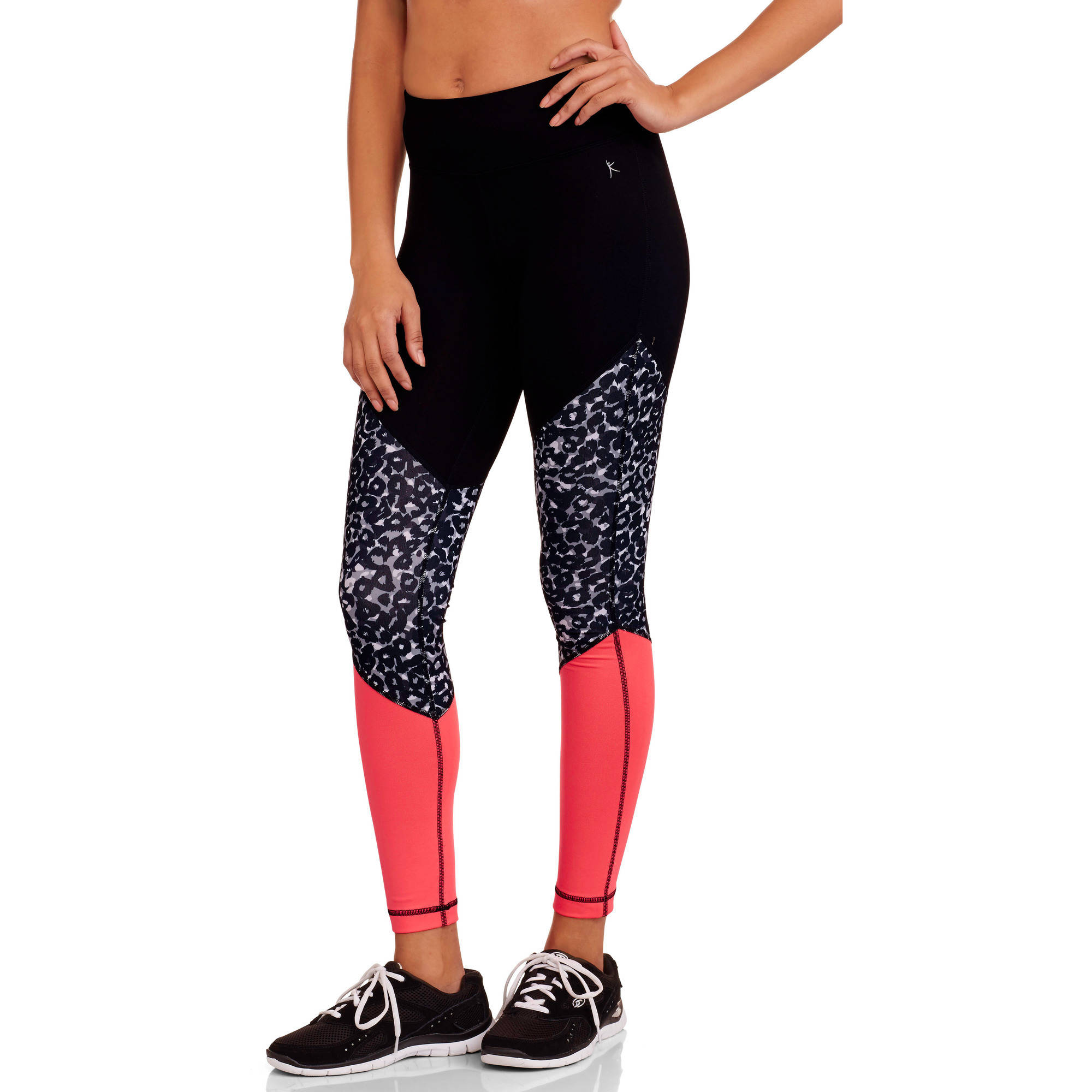 Danskin Now Juniors' Active Hidden Jungle Printed Performance Ankle Leggings