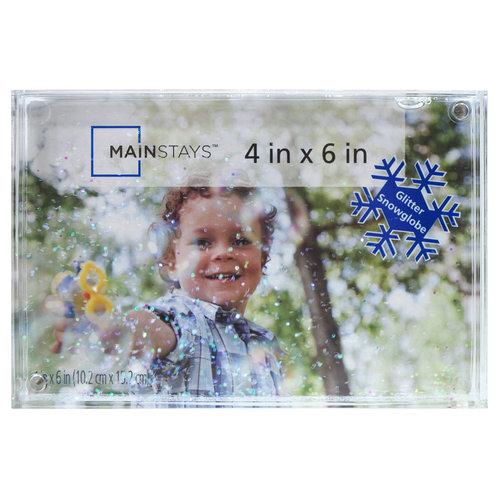 "Mainstays 4"" x 6"" Snow Globe Photo Holder"
