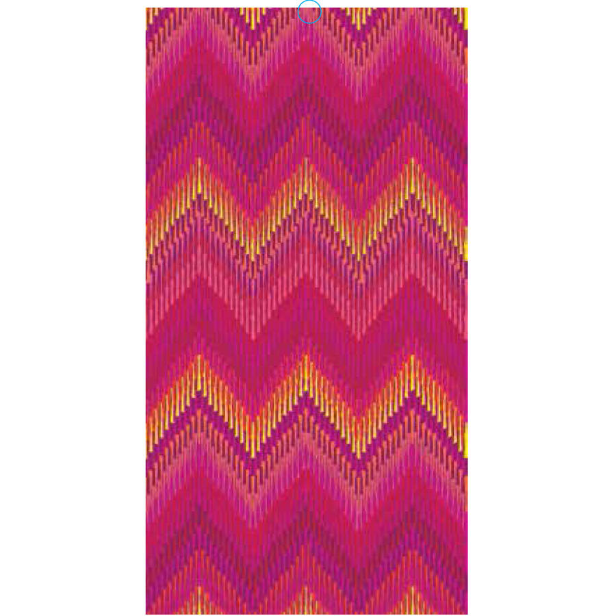 Mainstays Cotton Printed Beach Towel, Ikat Chevron Pink, 2 pack