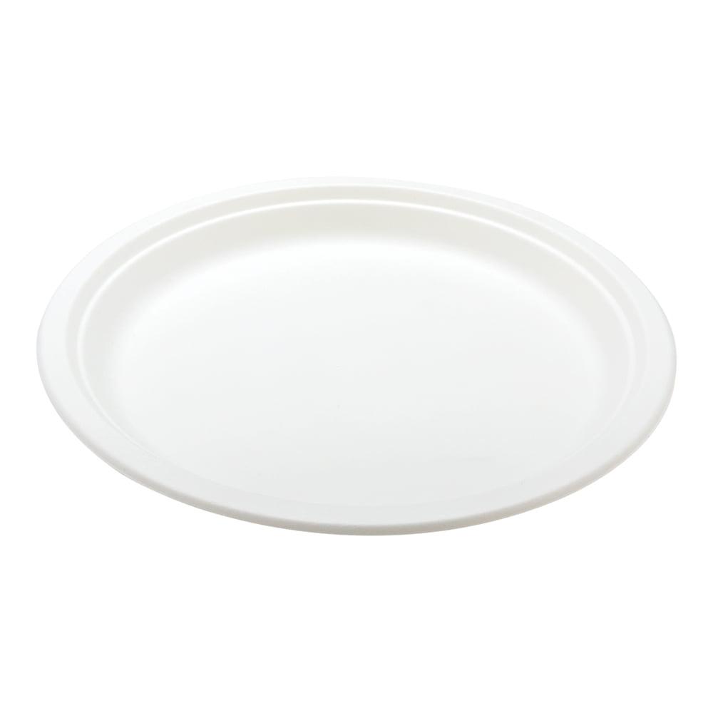 "Pulp Tek Round White Sugarcane / Bagasse Extra Large Plate - 11 3/4"" x 11  3/4"" x 1"" - 100 count box - Walmart.com - Walmart.com"