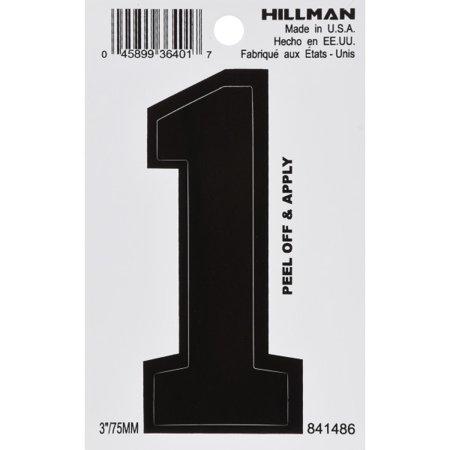 Hillman 841486 3-Inch Die-Cut Black Gloss Finish, Vinyl Peel-Off - Number (Vinyl Shutter Colors)