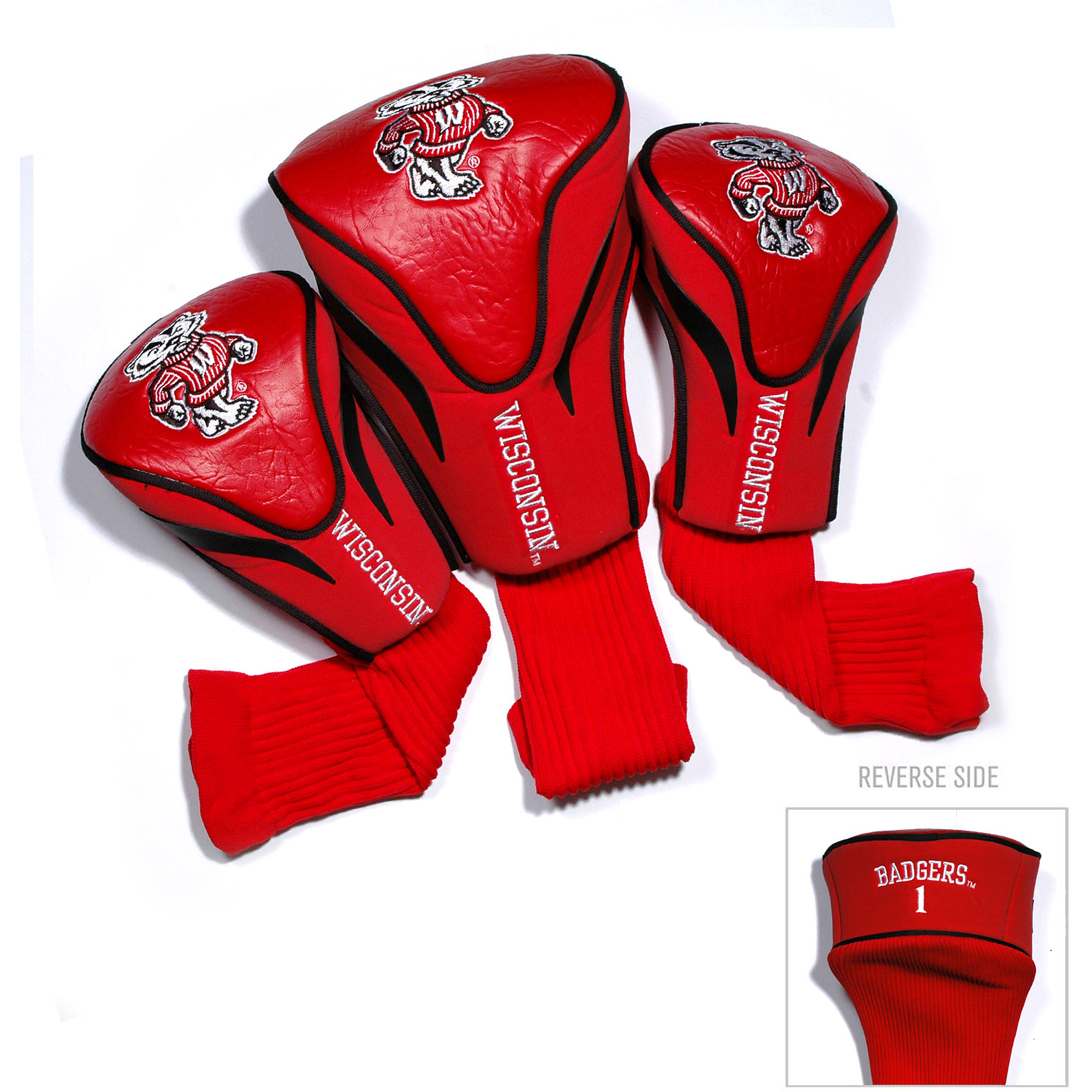 Wisconsin  3 Pack Contour Head Cover