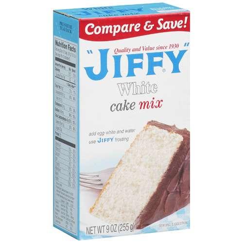 Jiffy: White Cake Mix, 9 Oz