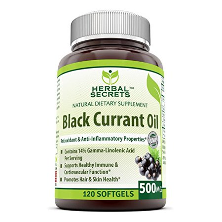 Herbal Secrets Black Currant Oil 500 Mg 120 Capsules