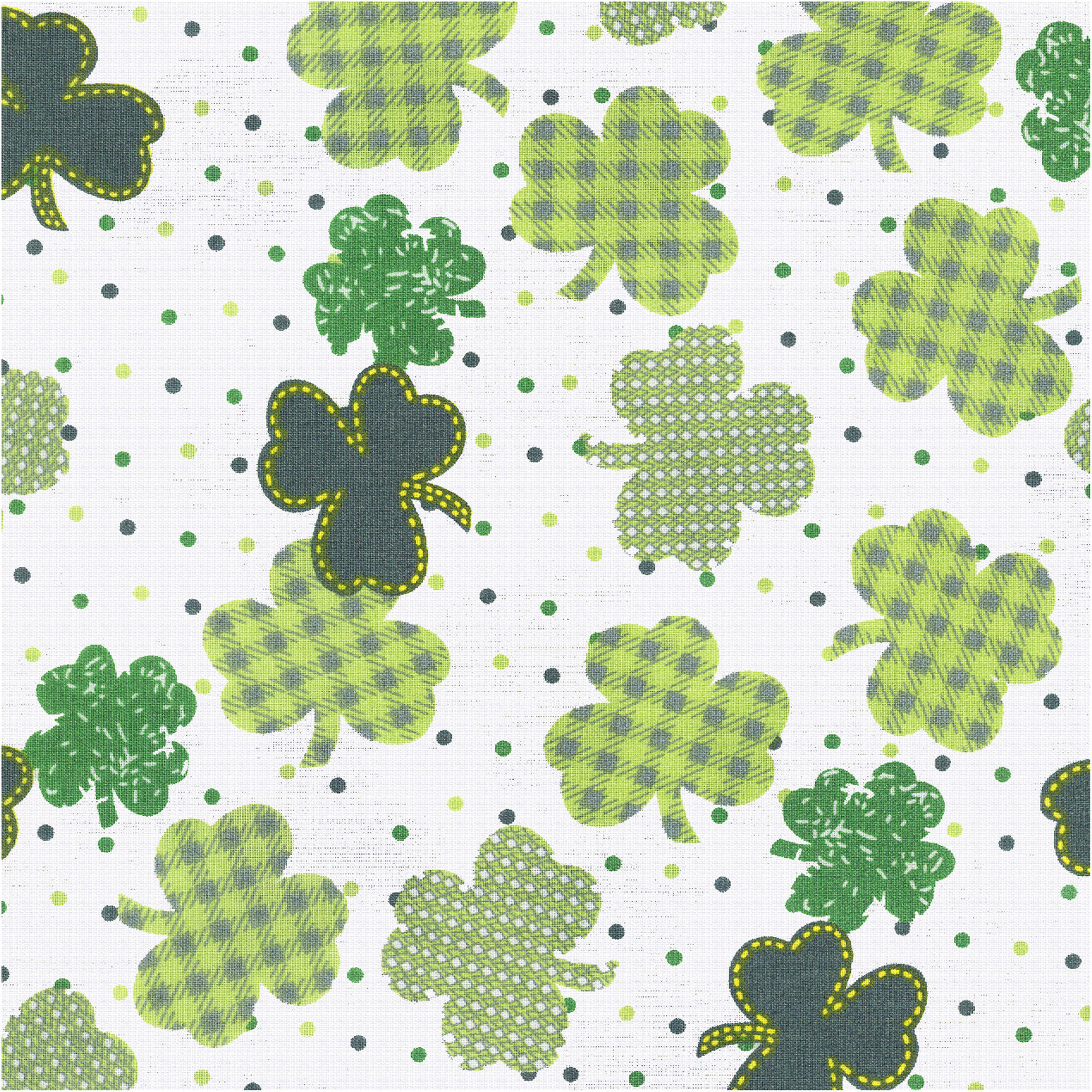 Shason Textile Soft Poly Cotton Print Fabric For St. Patrick's Day, 3 yds