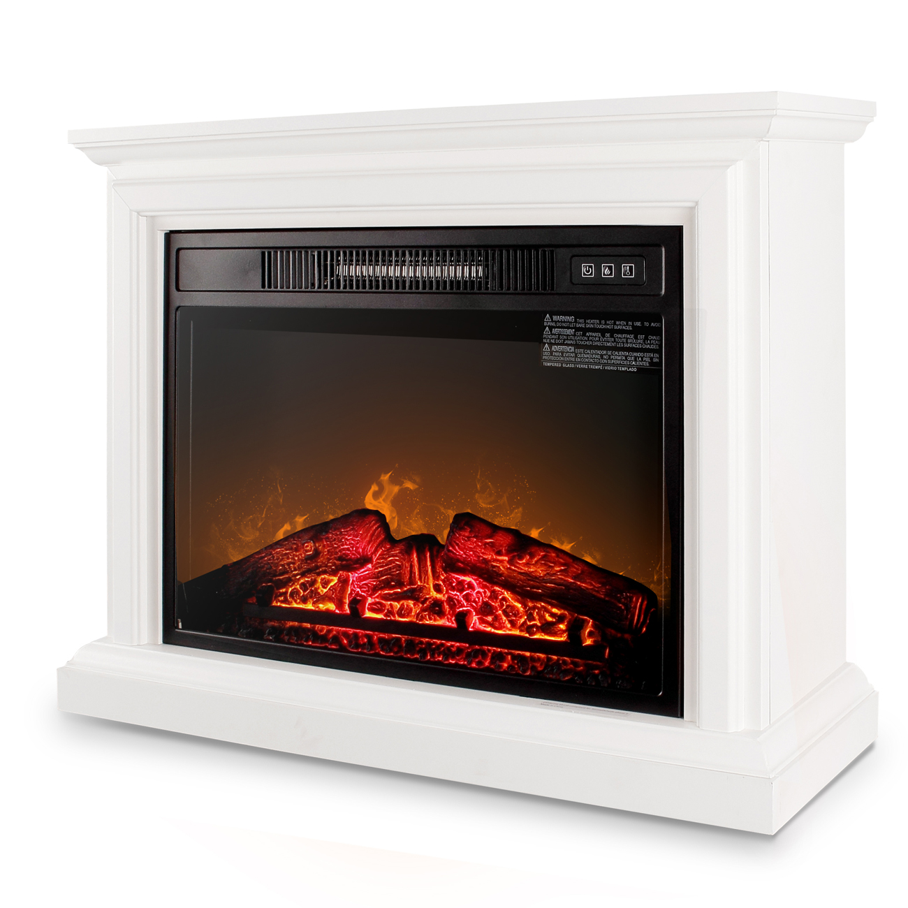 Della 1400W Infrared Quartz Deluxe Insert Fireplace Heater ...