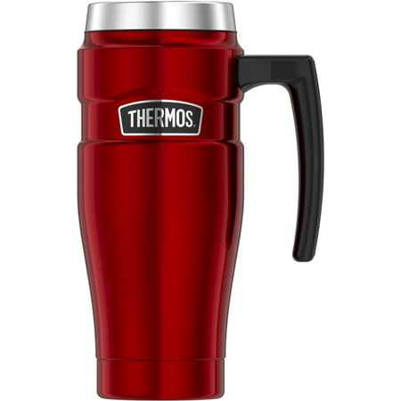 Thermos 16OZ Stainless King Travel Mug, Red Cranberry