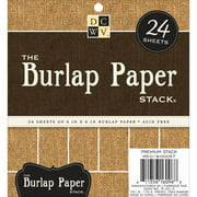 "Die-Cuts with a View 6"" x 6"" Burlap-Covered Cardstock Paper Stack, 24 Sheets"