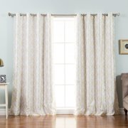 Best Home Fashion, Inc. Trellis Geometric Blackout Thermal Grommet Single Curtain Panel
