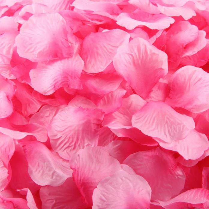 Mosunx 1000pcs Hot Pink Silk Rose Artificial Petals Wedding Party Flower Favors Decor