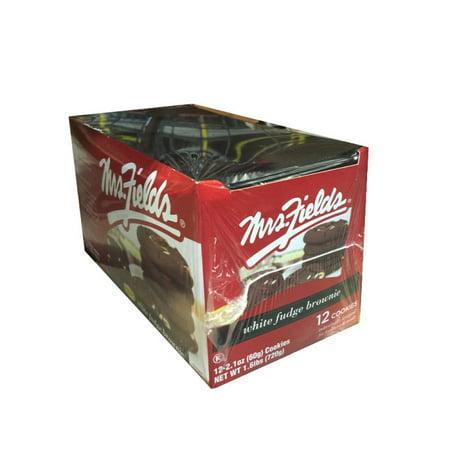 Mrs Fields White Fudge Brownie Cookies, (Pack of 12) ()