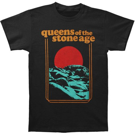 Queens Of The Stone Age Men's  Red Sun Mens Soft T Slim Fit T-shirt Vintage