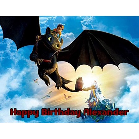 1/4 Sheet How to Train Your Dragon Edible Frosting Cake Topper- 79421*](Dragon Cake Topper)