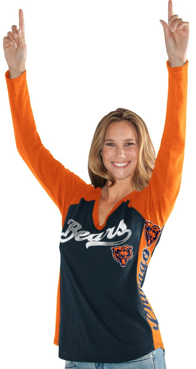 "Chicago Bears Women's G-III NFL ""Stadium"" V-neck Long Sleeve T-shirt by G-III Sports"