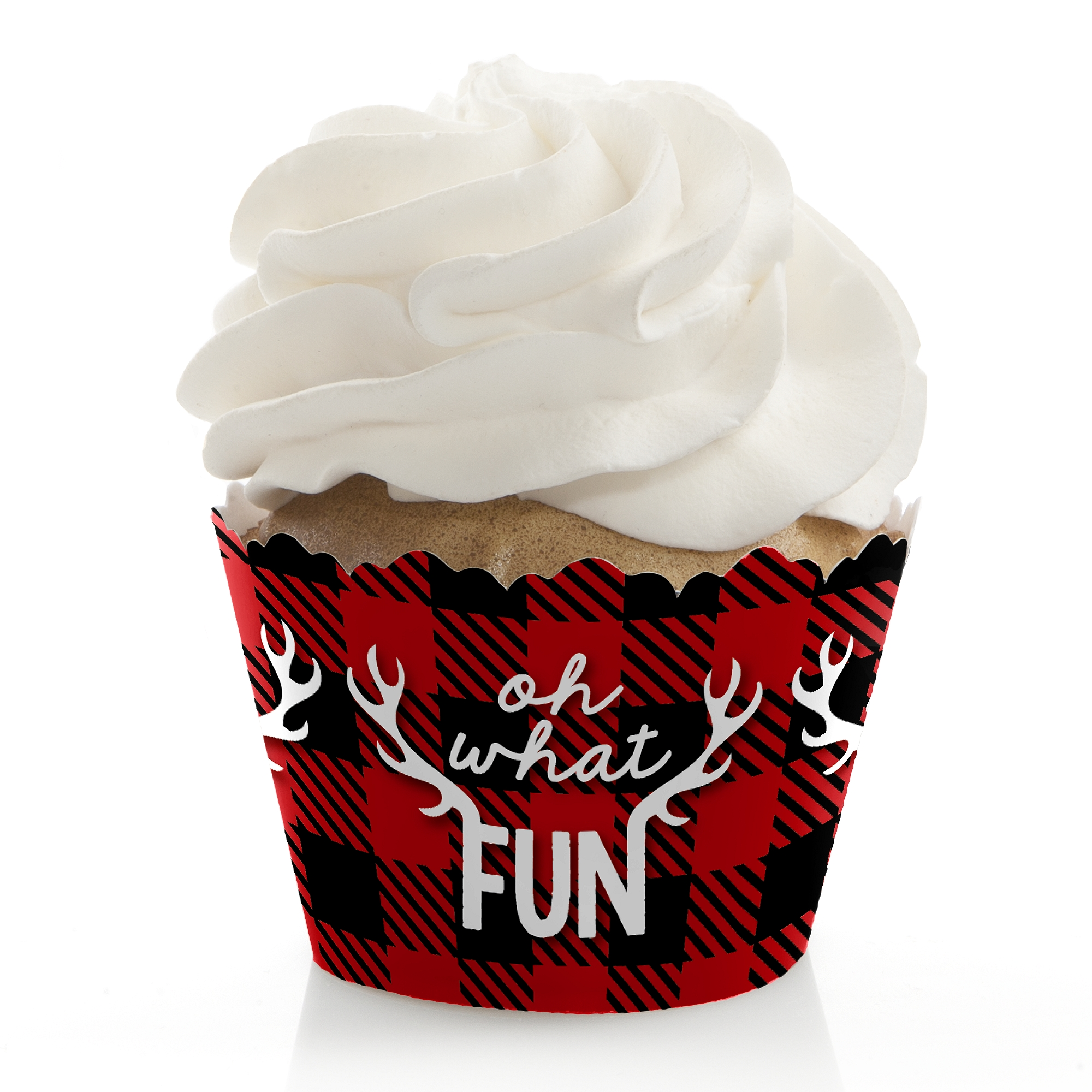 Set of 20 Gingham Christmas candy bar wrapper Christmas party favor Red White and Black Christmas