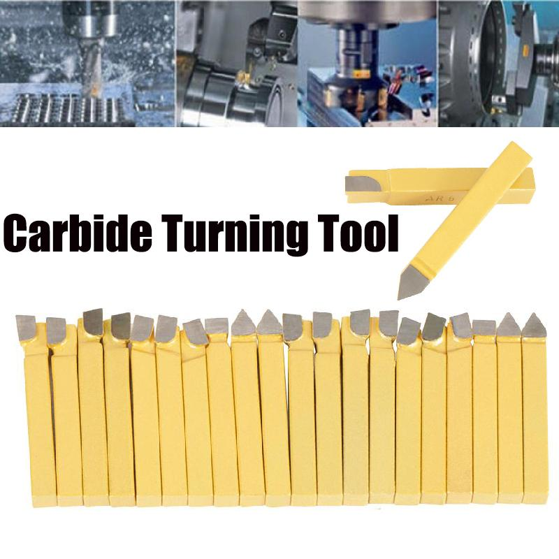10x Carbide-Tipped Tool Bit Sets Lathe Turning Tool Sets 3:8-C6