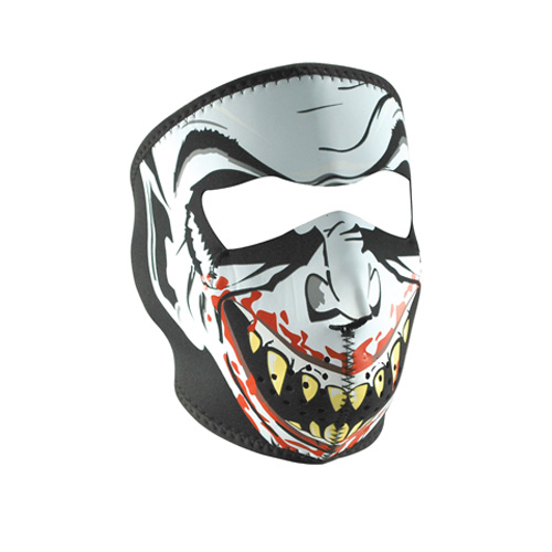 NEOPRENE FACE MASK, GLOW IN THE DARK, VAMPIRE